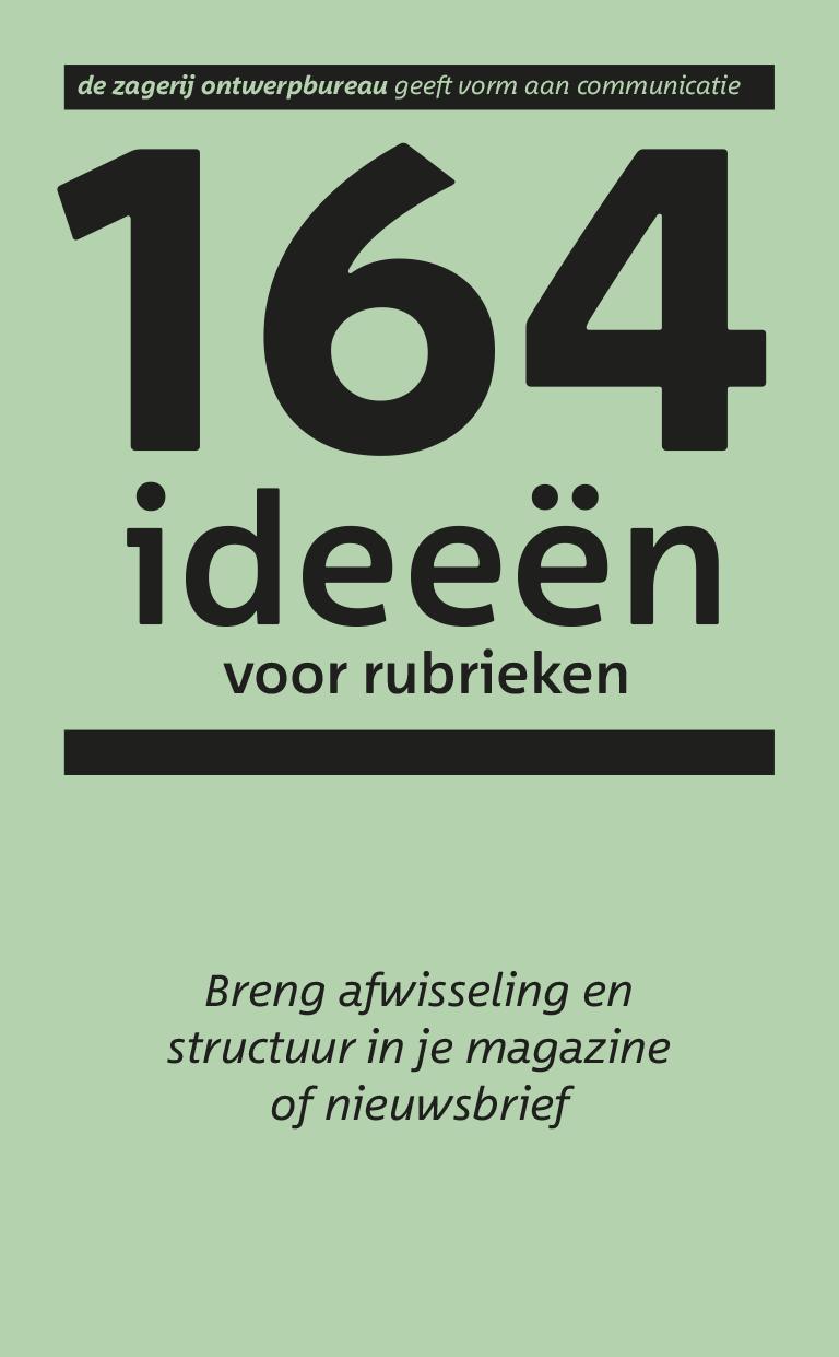 164 ideeën voor rubrieken