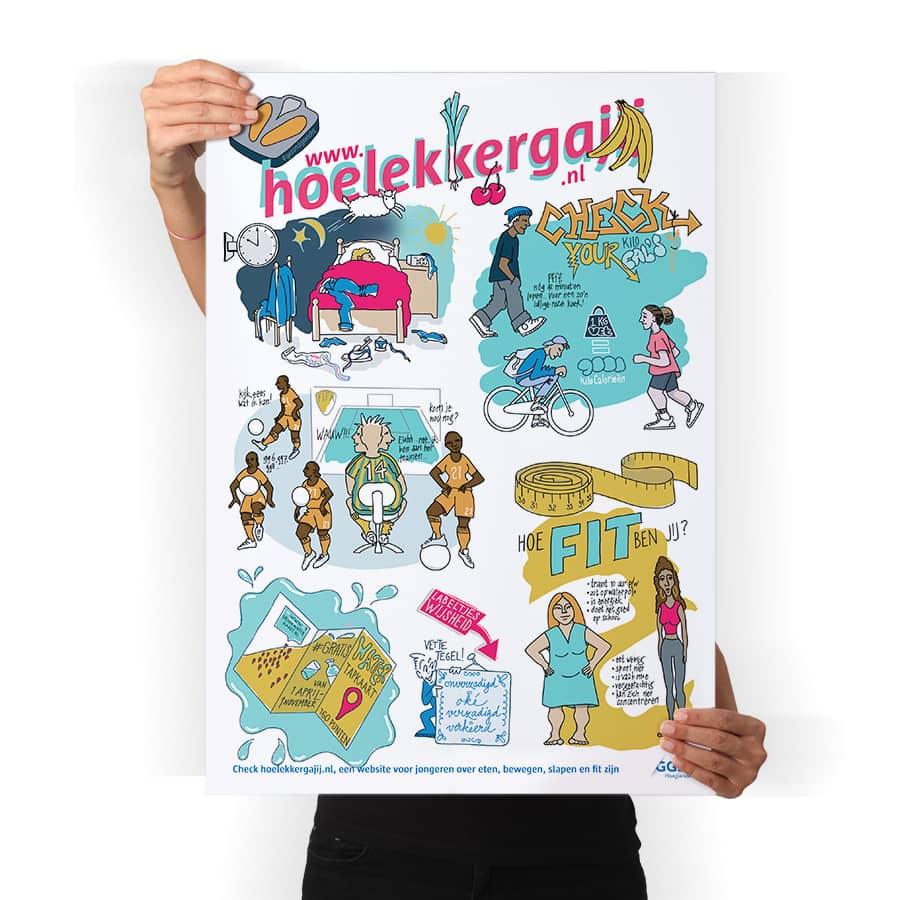 GGD Haaglanden illustraties posters