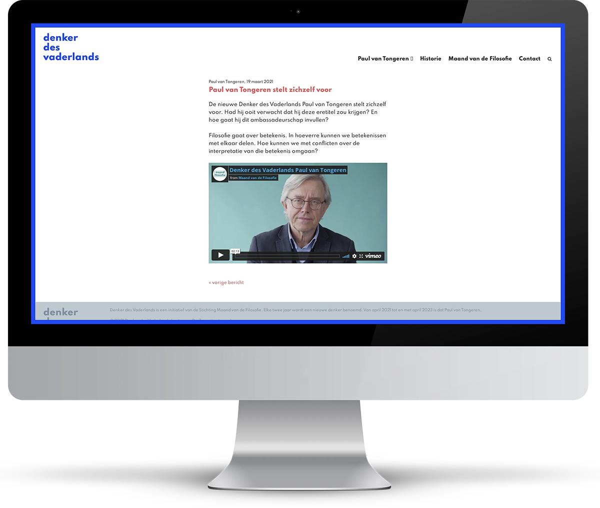 Website Denker des Vaderlands
